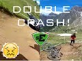 SUPERENDURO CANAZEI PS1 DOUBLE CRASH!