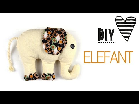 DIY Elefant Nähen / Kuscheltier mit Schnittmuster