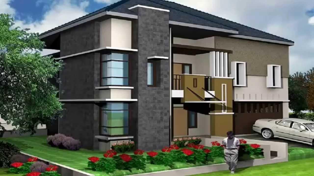 20 Contoh Desain Rumah Minimalis Modern 2 Lantai Youtube