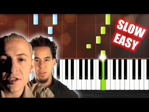 Linkin Park - In The End - SLOW EASY Piano Tutorial by PlutaX