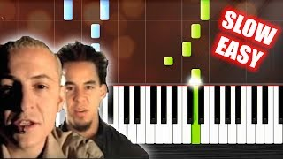 Linkin Park In The End SLOW EASY Piano Tutorial By PlutaX