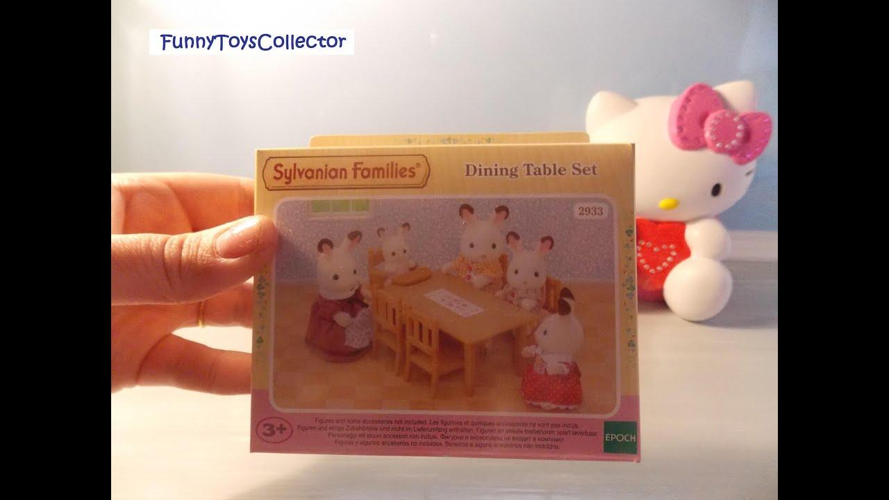 SYLVANIAN FAMILIES Dining Table Set Nr 2933 Von EPOCH Auf Kinderkanal