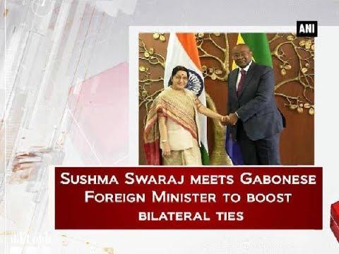 Sushma Swaraj meets Gabonese Foreign Minister to boost bilateral ties - Delhi News