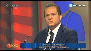 TRT Okul - Rektörler Anlatıyor - Ordu Üniversitesi Rektörü Prof  Dr  Tarık YARILGAÇ