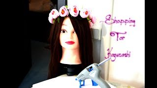 Обзор посылки/Помощница/Манекен девушки с волосами/Shopping For Kanzashi