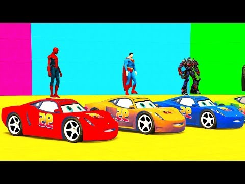 Thumbnail: Colors for Children to Learn with Street Vehicles Disney Cars and Toys McQueen for Kids