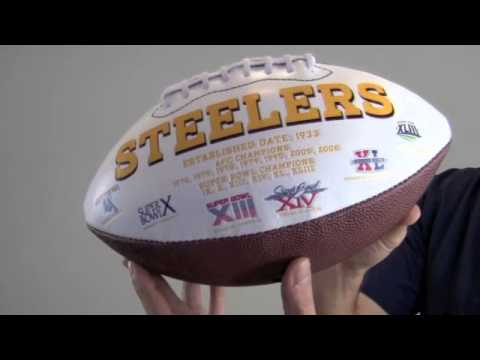 Hines Ward Autographed Pittsburgh Steelers Logo Football - PSA/DNA