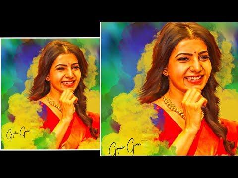 Samantha | Digital Painting In Photoshop Tutorial |graphic Genie
