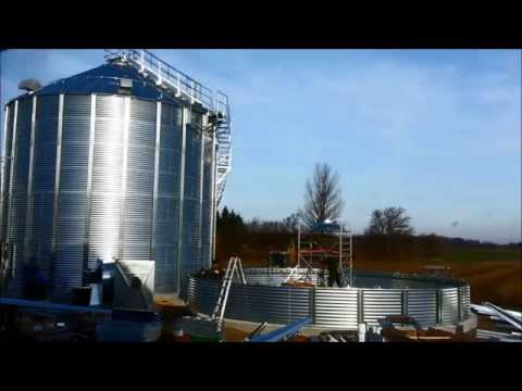 Efficient grain silo installation by Inter-Silo team in 2014