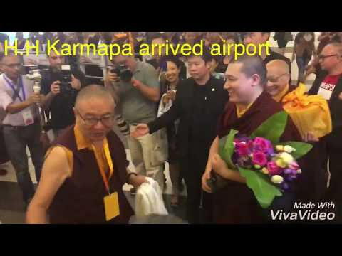 Arrival of his holiness the 17th gyalwa karmapa thrinely thaya arrival of his holiness the 17th gyalwa karmapa thrinely thaya dorje in singapore changi airport thecheapjerseys Gallery