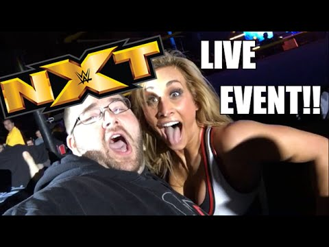 EPIC NXT REACTIONS LIVE EVENT VLOG! Meeting Superstars Ringside with Hilarious Interactions!