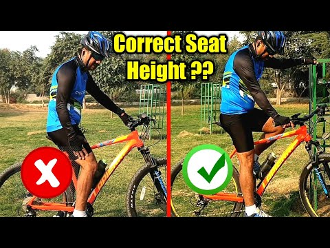 Seat Height Adjustment  | How to Set Correct Saddle Height of Any Cycle | Cycle Tips and Tricks