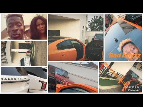 Shatta Wale Chilling With New Girlfriend In His Mansion And Put His Cars On Display