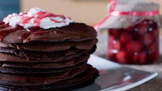 Шоколадные панкейки рецепт в домашних условиях