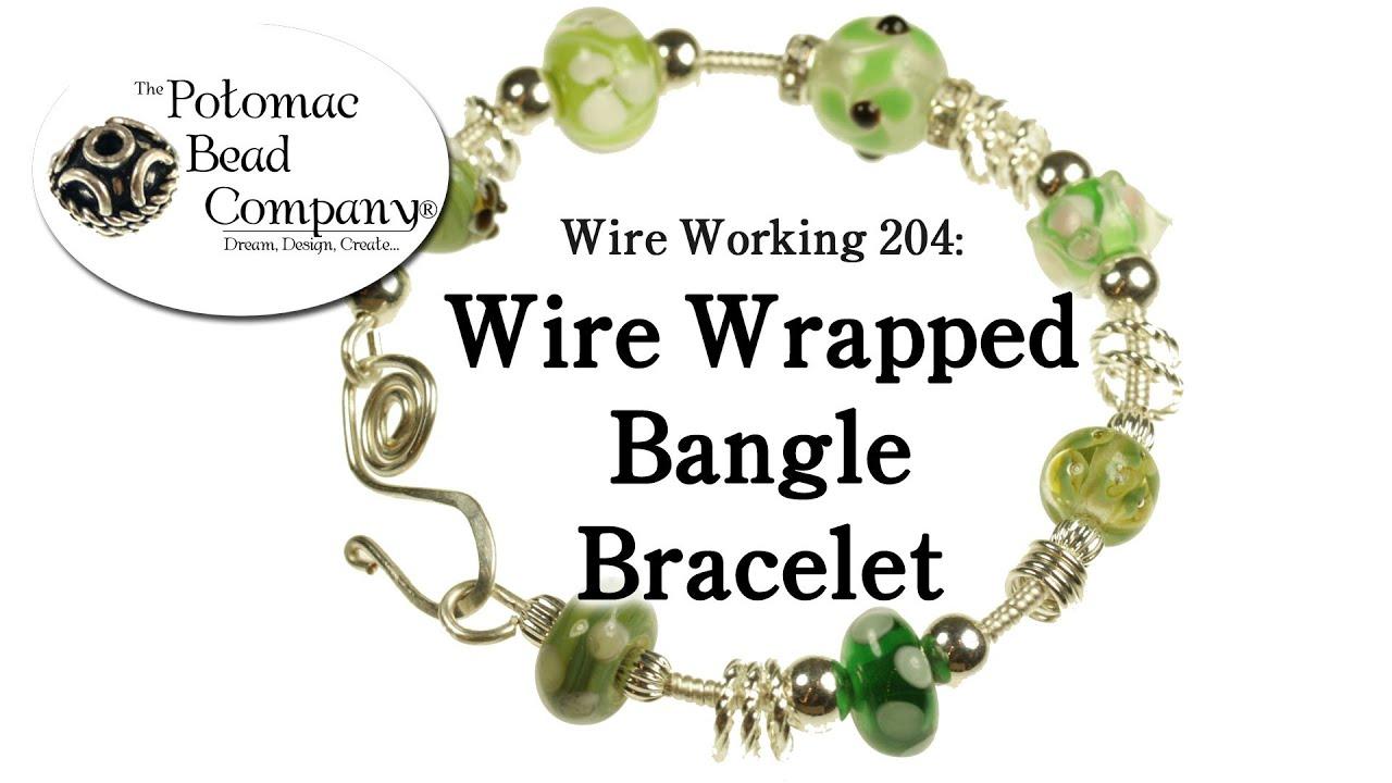 Wire Wrapped Bangle Bracelet - YouTube