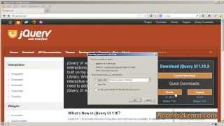 Installing jQuery UI locally