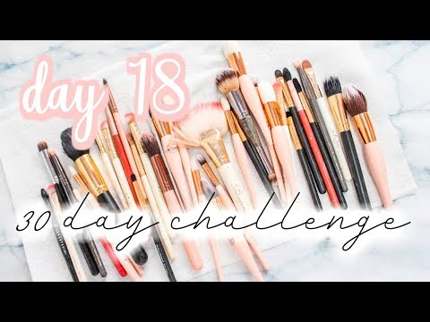 Cleaning Makeup Brushes - Day #18: 30 day Get Your Life Together Challenge [Roxy James] #GYLT#life
