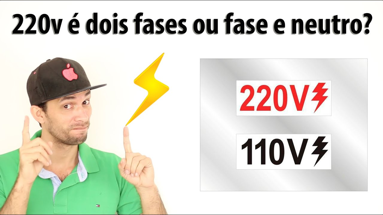 Duvida 220v dois fases ou fase neutro youtube for Fase e neutro colori