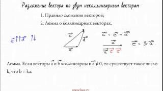 Разложение вектора по 2 неколлинеарным векторам - bezbotvy