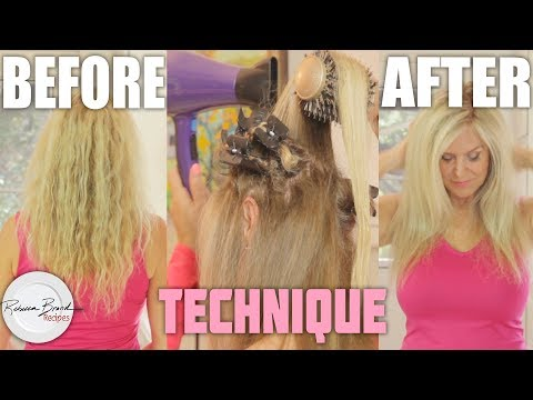 How to Blow Dry Kinky Hair to Sleek| Salon Style At Home | Fast Professional Blow Dry