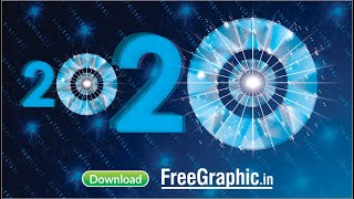 Happy New Year 2020 Free Cdr file Low Poly Design Freegraphic in