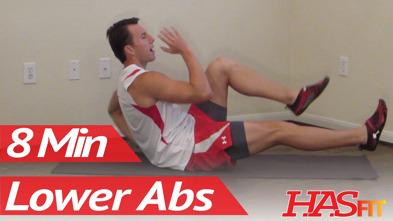 8 Minutes Lower Ab Workout - HASfit's Lower Abdominal Exercises - Work Out Lower Abs