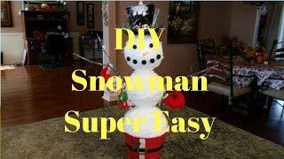 DIY Snowman Super Easy