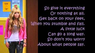 Hannah Montana Forever - ORDINARY GIRL lyrics