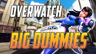 Overwatch - big dummies - D.VA Gameplay