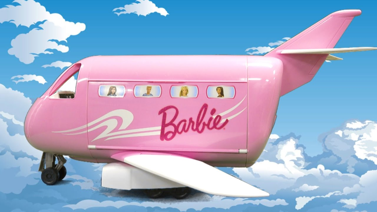 Barbie Pink Passport Glamour Jet From Mattel Youtube