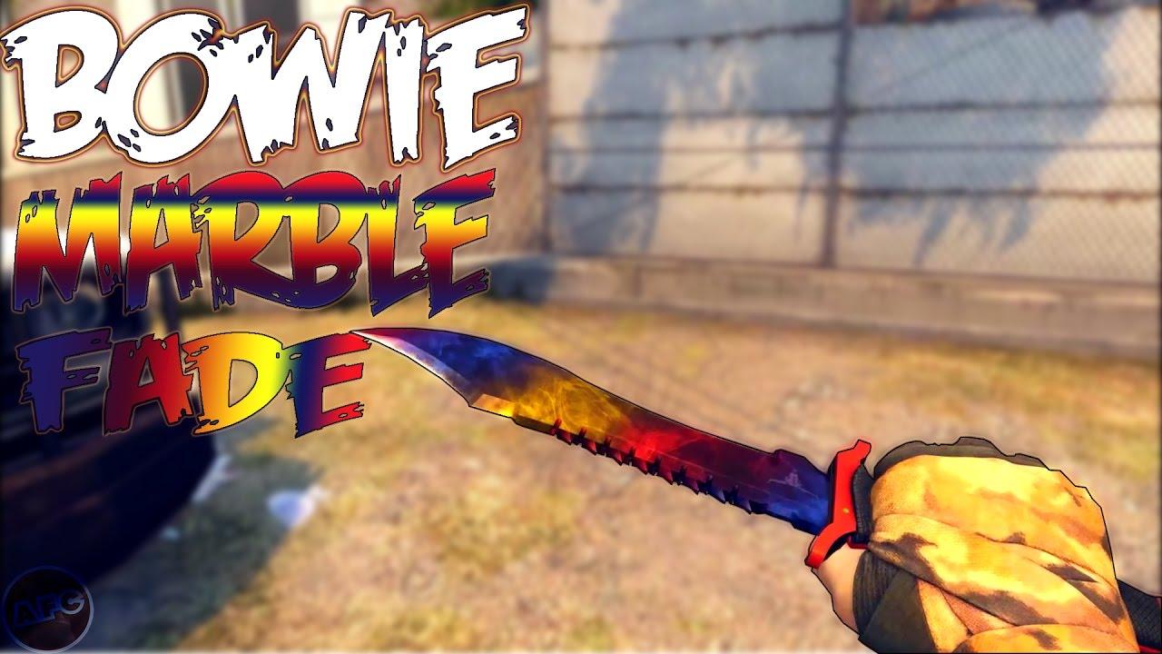 CSGO BOWIE KNIFE MARBLE FADE SHOWCASE