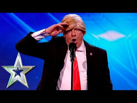 Donald Trump impersonator escorted from stage  Ireland&39;s Got Talent