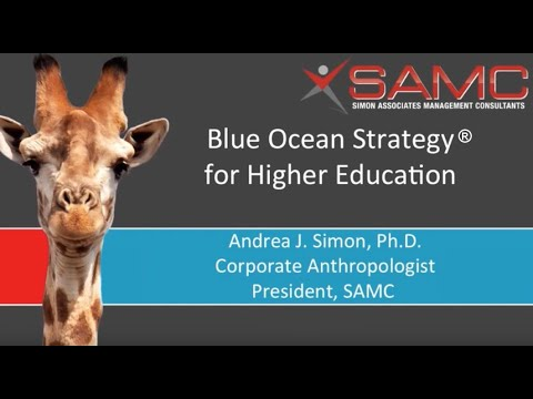 Blue Ocean Strategy for Higher Education
