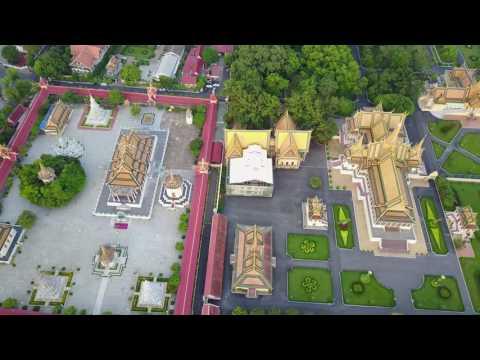 Phnom Penh Royal Palace DJI Mavic Pro 4k