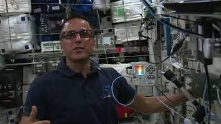 NASA astronaut Joseph Acaba onboard the International Space Station with Astro Pi