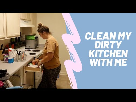 CLEAN MY DIRTY KITCHEN WITH ME | cleaning inspo