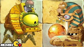 Plants Vs Zombies 2: All Version Ancient Egypt Zomboss Battle