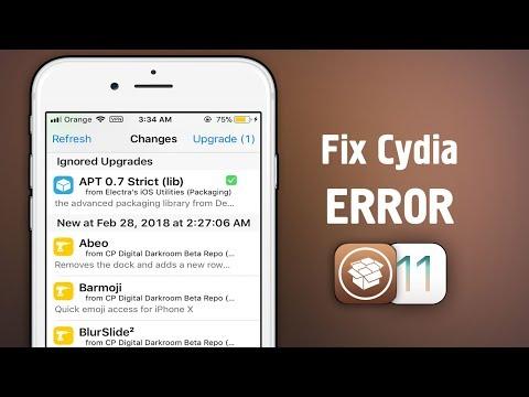 How to Fix CYDIA Not working after updating APT on iOS 11 - 11 1 2  JAILBREAK - Музыка для Машины