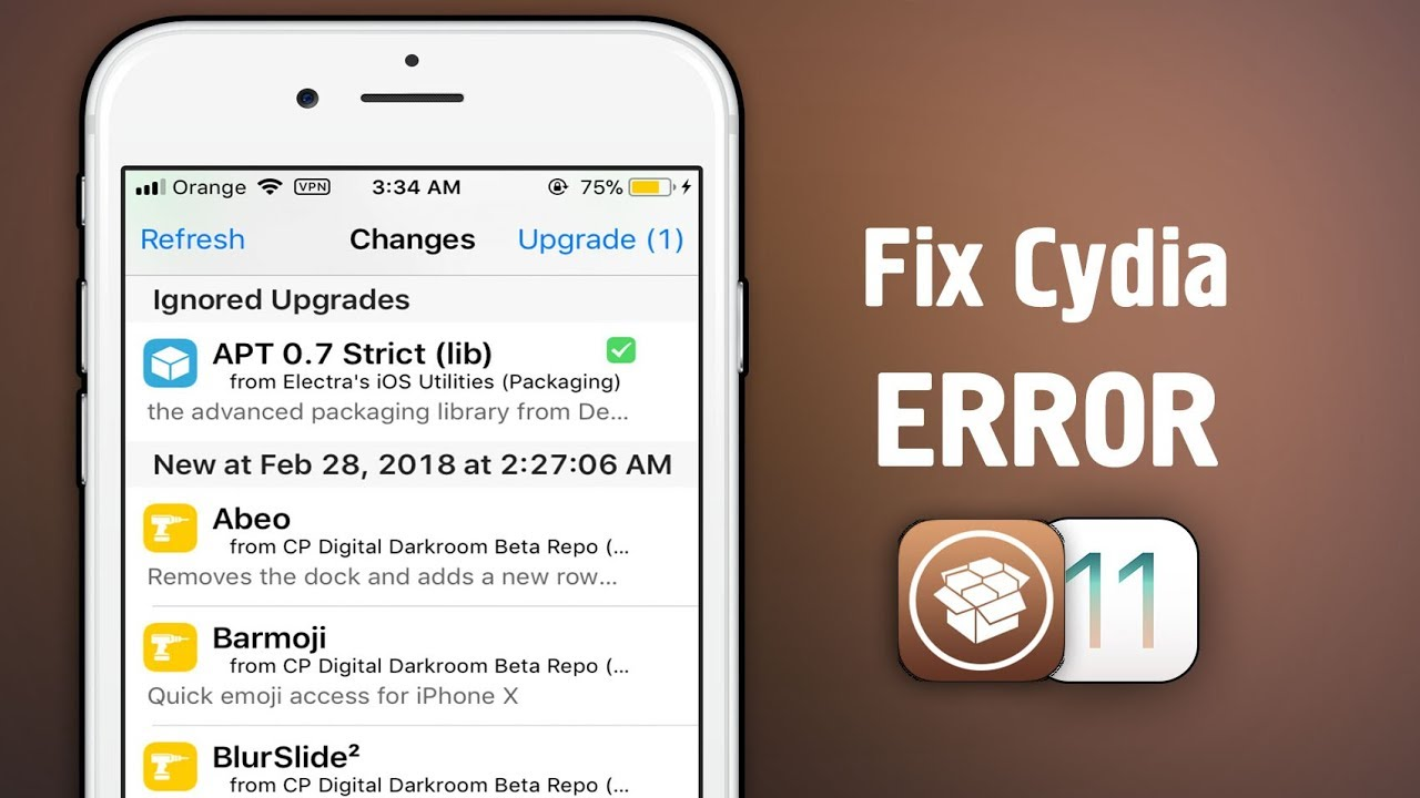 How to Fix CYDIA Not working after updating APT on iOS 11 - 11 1 2 JAILBREAK