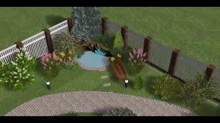 3D проект дачного участка от «Зона Газона»
