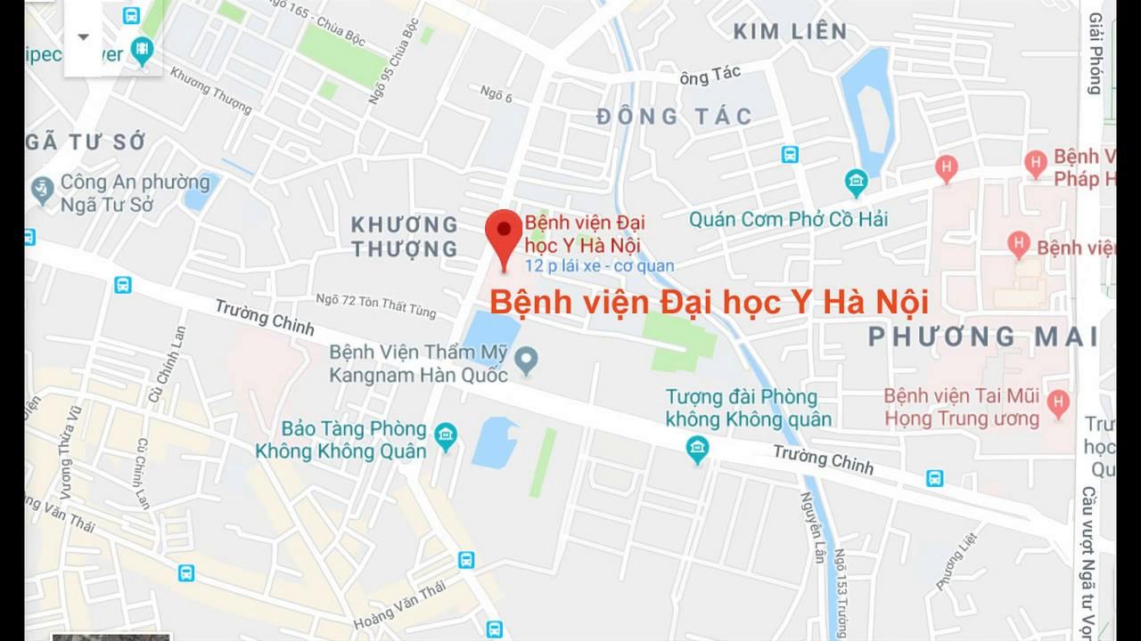 Địa chỉ, giờ làm việc Bệnh viện Đại học Y Hà Nội