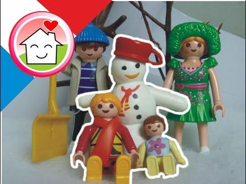 Playmobil en français - La venue de l´hiver La famille Hauser / film pour enfants