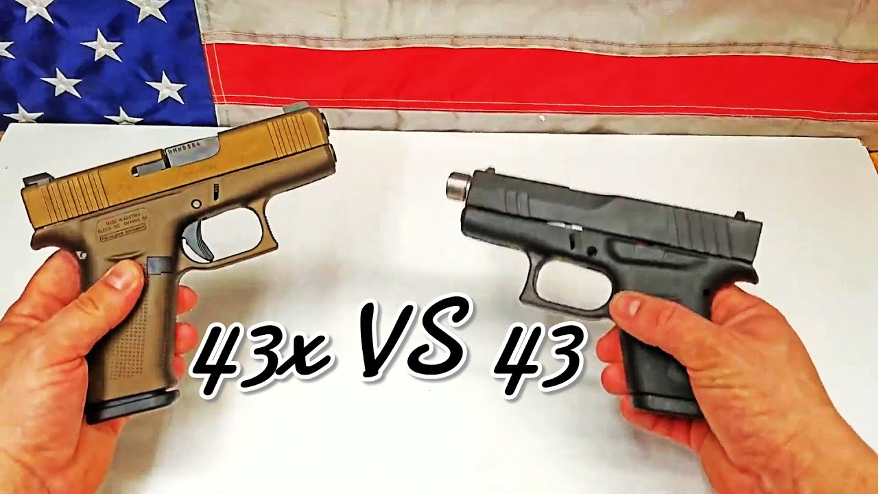 Glock 43x vs Glock 43 comparison.