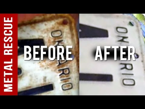 How To Remove Rust From Rusty License Plates: DIY