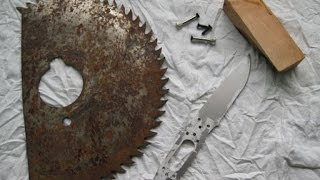 Самодельный нож из круга для циркулярки своими руками