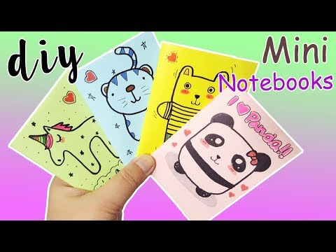 4 DIY Mini Notebook Easy without Glue