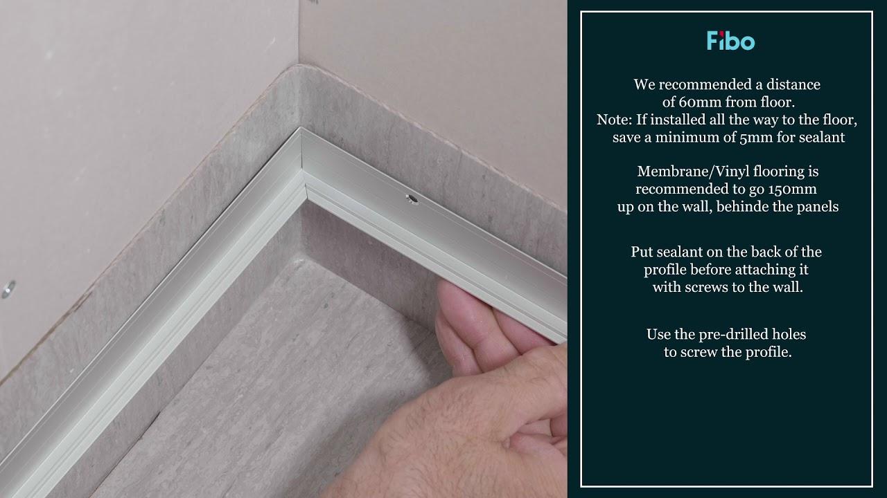 Installation Videos Wall Panels Fibo Waterproof Wall System