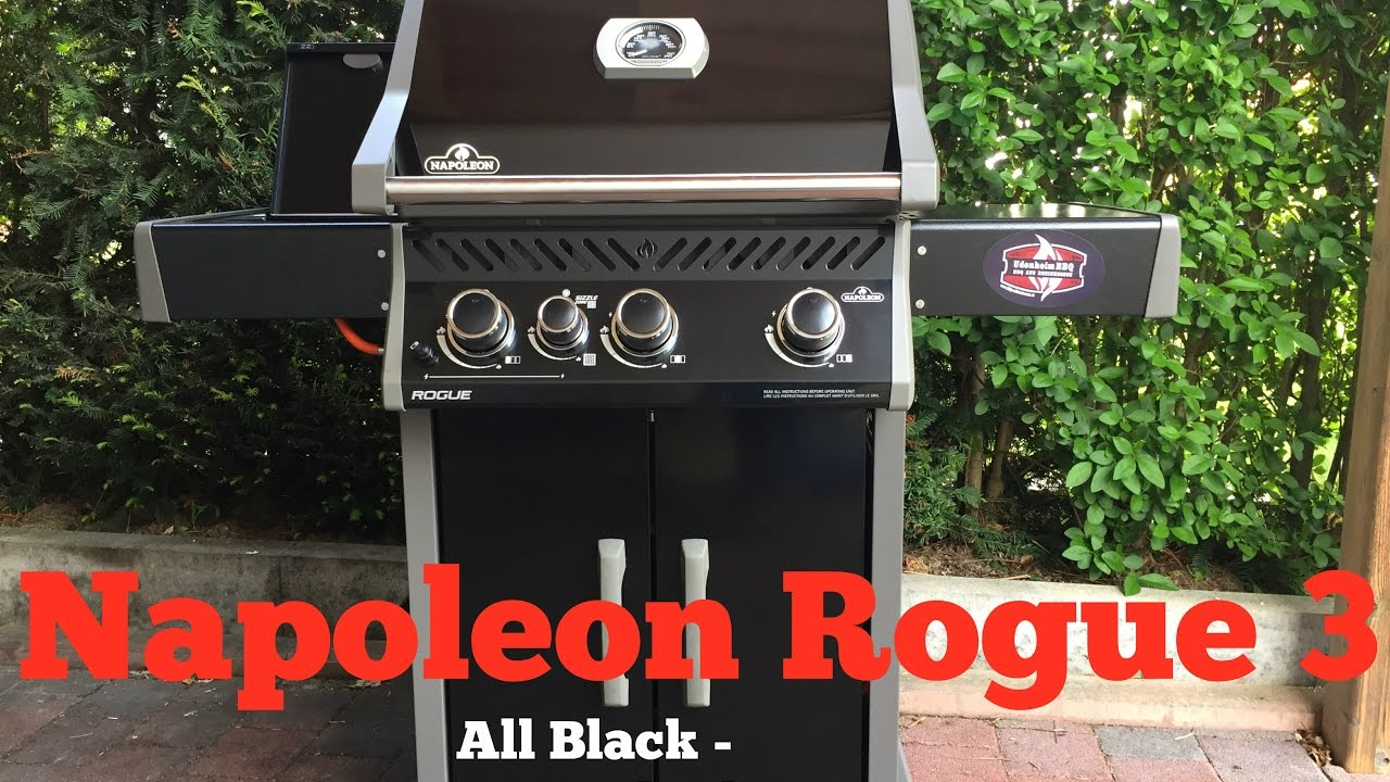 napoleon rogue 3 gasgrill all black limited edition youtube. Black Bedroom Furniture Sets. Home Design Ideas