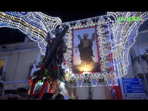 Gricignano (CE) - Festa Sant'Andrea, il rientro della statua in chiesa (30.08.16)