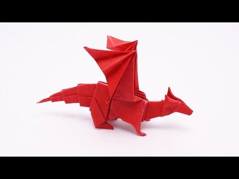 Origami Fiery Dragon instructions ( Kade Chan) | FunnyCat.TV
